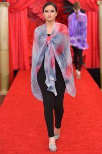 Elegant Colors Long Poncho 1