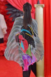 Kabuki Geisha long Poncho
